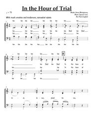 In the Hour Of Trial - SATB acappella