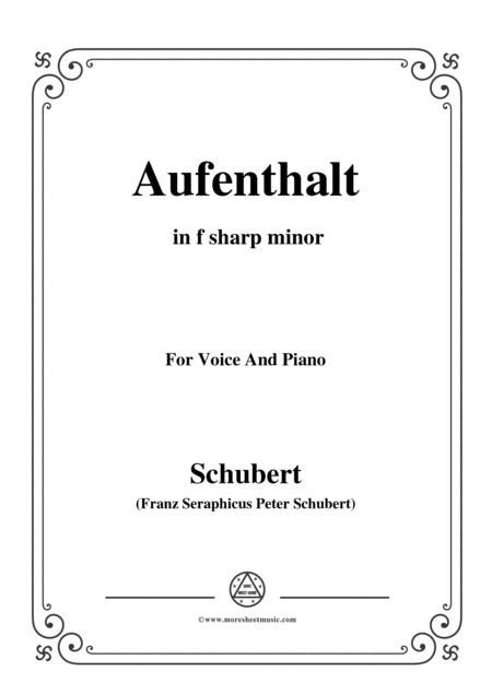 Schubert-Aufenthalt,in f sharp minor,for Voice&Piano