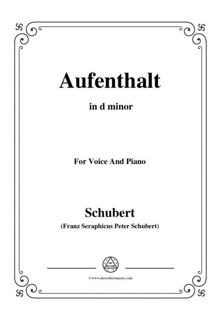Schubert-Aufenthalt,in d minor,for Voice&Piano