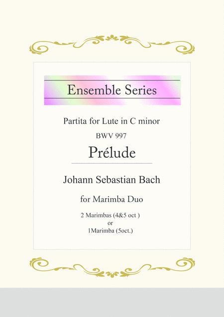Prelude / from Partita for Lute in C minor, BWV 997 for Marimba Duo