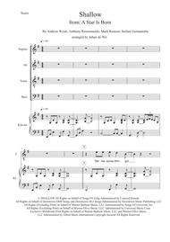 Shallow 					 Digital Sheet Music 					 By Lady Gaga