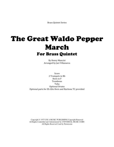 The Great Waldo Pepper March for Brass Quintet with optional drums