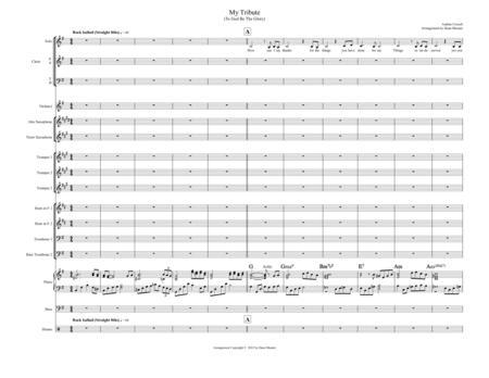 My Tribute  (Choir or Voc. Qtte)