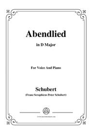 Schubert-Abendlied,in D Major,for Voice&Piano