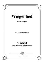 Schubert-Wiegenlied,in D Major,for Voice&Piano