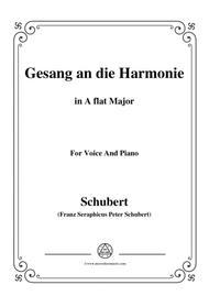 Schubert-An die Harmonie(Gesang an die Harmonie),D.394,in A flat Major,for Voice&Piano