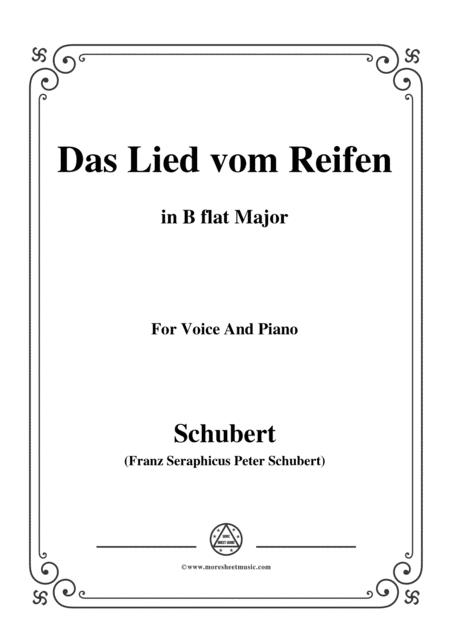 Schubert-Das Lied vom Reifen(Song of the Frost),D.532,in B flat Major,for Voice&Piano