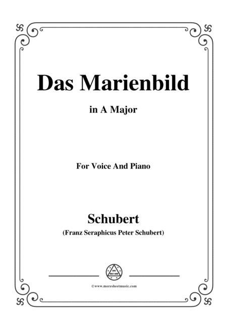 Schubert-Das Marienbild,in A Major,for Voice&Piano
