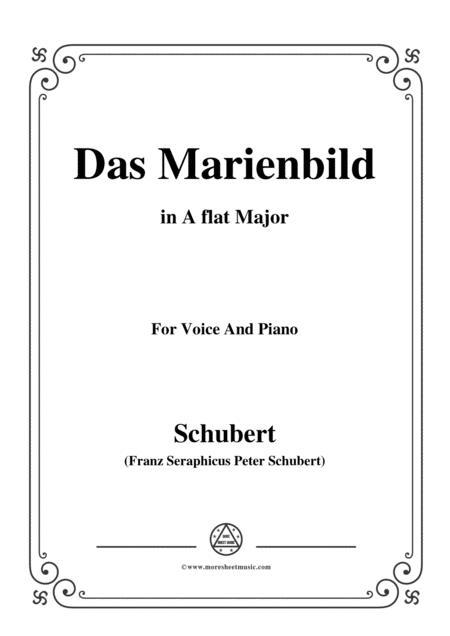 Schubert-Das Marienbild,in A flat Major,for Voice&Piano