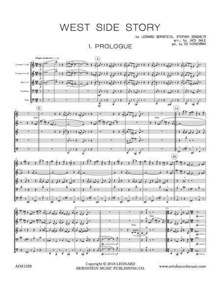 West Side Story for Brass Quintet arranged by Jack Gale