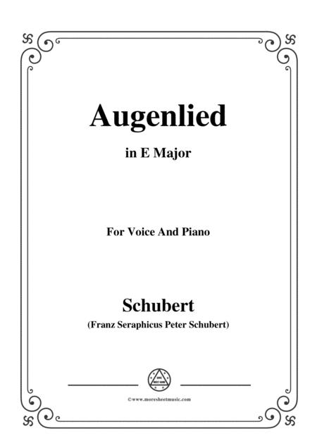 Schubert-Augenlied,in E Major,for Voice&Piano