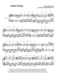 Annie's Song for easy harp. In C