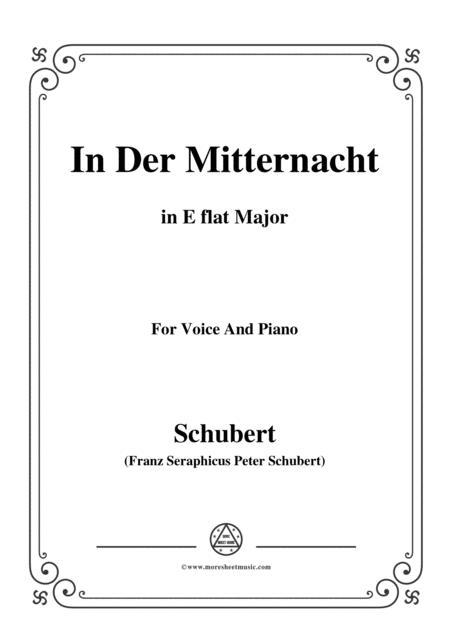 Schubert-In der Mitternacht,in E flat Major,for VoiceΠano
