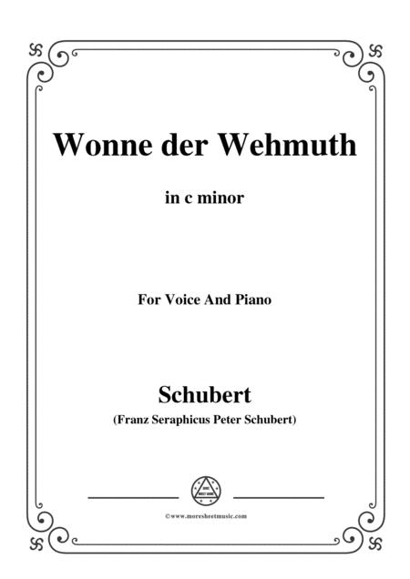 Schubert-Wonne der Wehmuth,Op.115 No.2,in c minor,for Voice&Piano