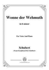 Schubert-Wonne der Wehmuth,Op.115 No.2,in b minor,for Voice&Piano