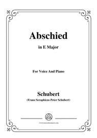 Schubert-Abschied,in E Major,for Voice&Piano