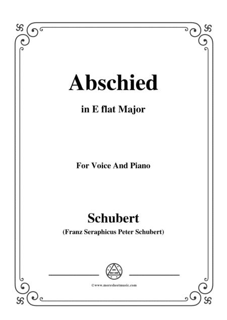 Schubert-Abschied,in E flat Major,for Voice&Piano