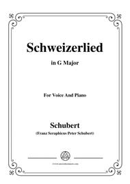 Schubert-Schweizerlied,in G Major,for Voice&Piano
