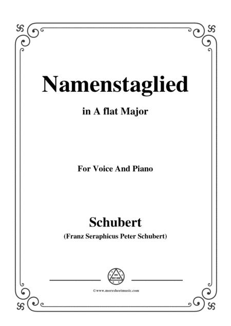 Schubert-Namenstaglied,in A flat Major,from 'Madrigali',for Voice&Piano