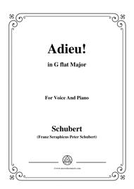 Schubert-Adieu!,in G flat Major,for Voice&Piano