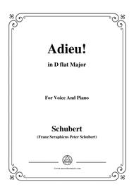 Schubert-Adieu!,in D flat Major,for Voice&Piano