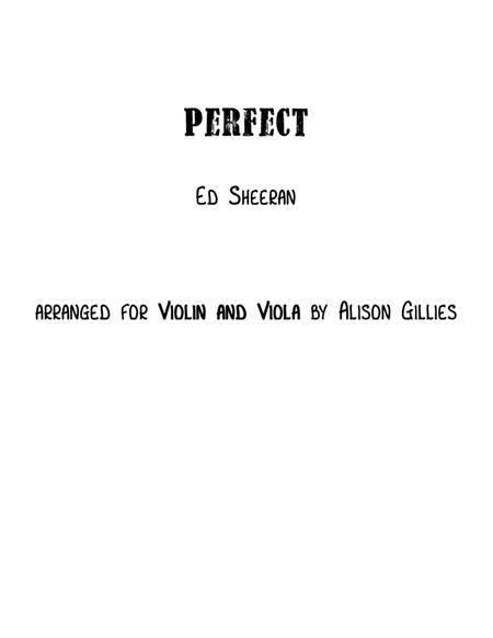 Perfect - Violin and Viola duet