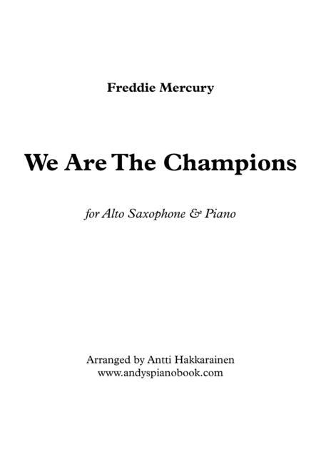 We Are The Champions - Alto Saxophone & Piano