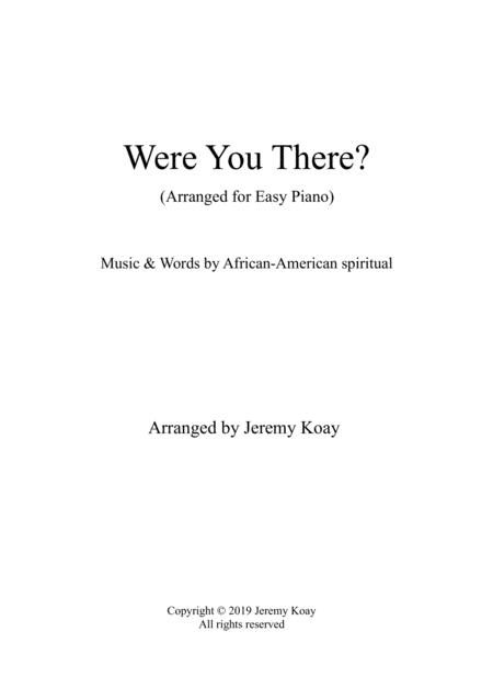 Were You There (Easy Piano)