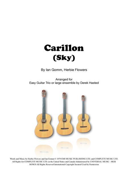 Carillon (Sky) for easy Guitar Trio