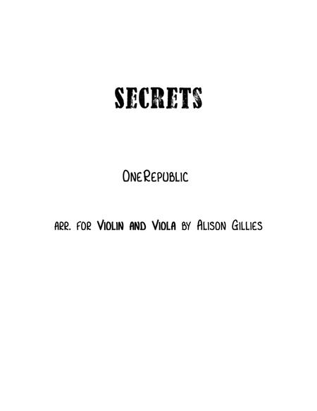 Secrets - Violin and Viola duet