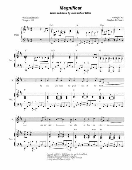 Magnificat (Duet for Soprano and Tenor Solo)
