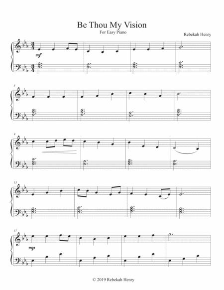 Be Thou My Vision - Easy Piano
