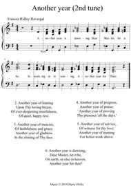 Another year. A new tune to Frances Ridley Havergal's wonderful hymn.