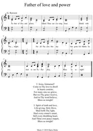 Father of love and power. A new tune to a wonderful old hymn.