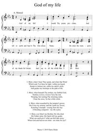 God of my life. A new tune to a wonderful old hymn.