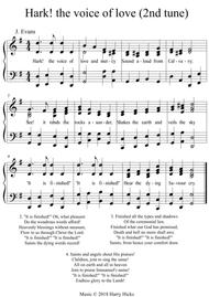 Hark! the voice of love. Another new tune for this wonderful hymn.