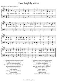 How brightly shines the morning star. A new tune to a wonderful old hymn.