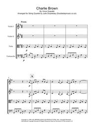 Charlie Brown Linus And Lucy Theme for String Quartet - Score and Parts