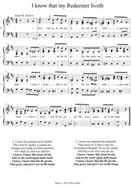 I know that my Redeemer liveth. A new tune to a wonderful old hymn.