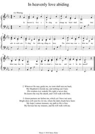 In heavenly love abiding. A new tune to a wonderful old hymn.