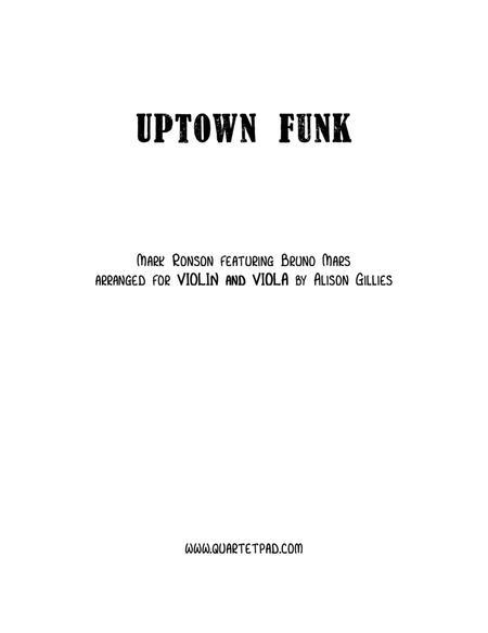 Uptown Funk - Violin and Viola duet