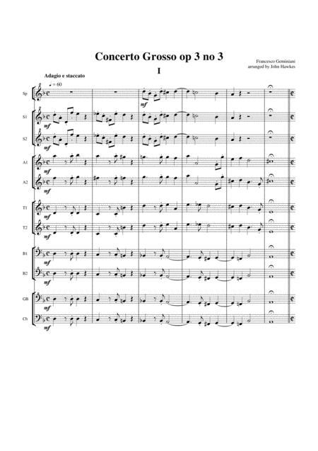 Geminiani: Concerto Grosso op3 no 3