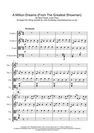 A Million Dreams for String Quartet - Score and Parts
