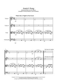 Annie's Song for String Quartet - Score and Parts
