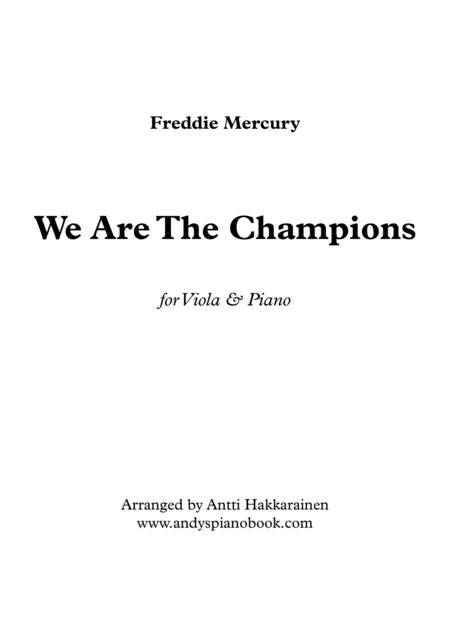We Are The Champions - Viola & Piano