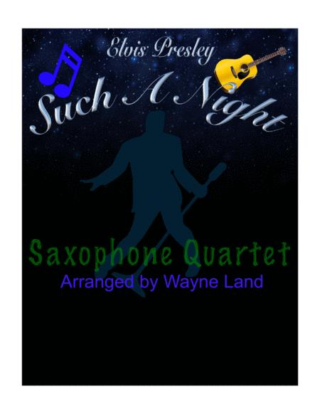 Such A Night (Saxophone Quartet)