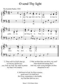 O send Thy light. A new tune to a wonderful old hymn.