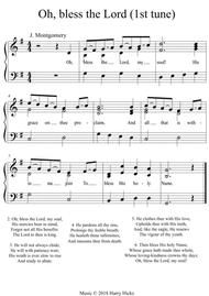Oh, bless the Lord, my soul. A new tune to a wonderful old hymn.