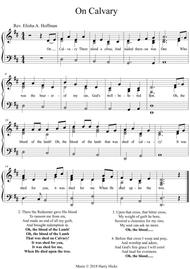 On Calvary. A new tune to a wonderful old hymn.
