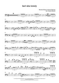 Isn't She Lovely - Trombone Solo (and C Instruments in Bass clef)